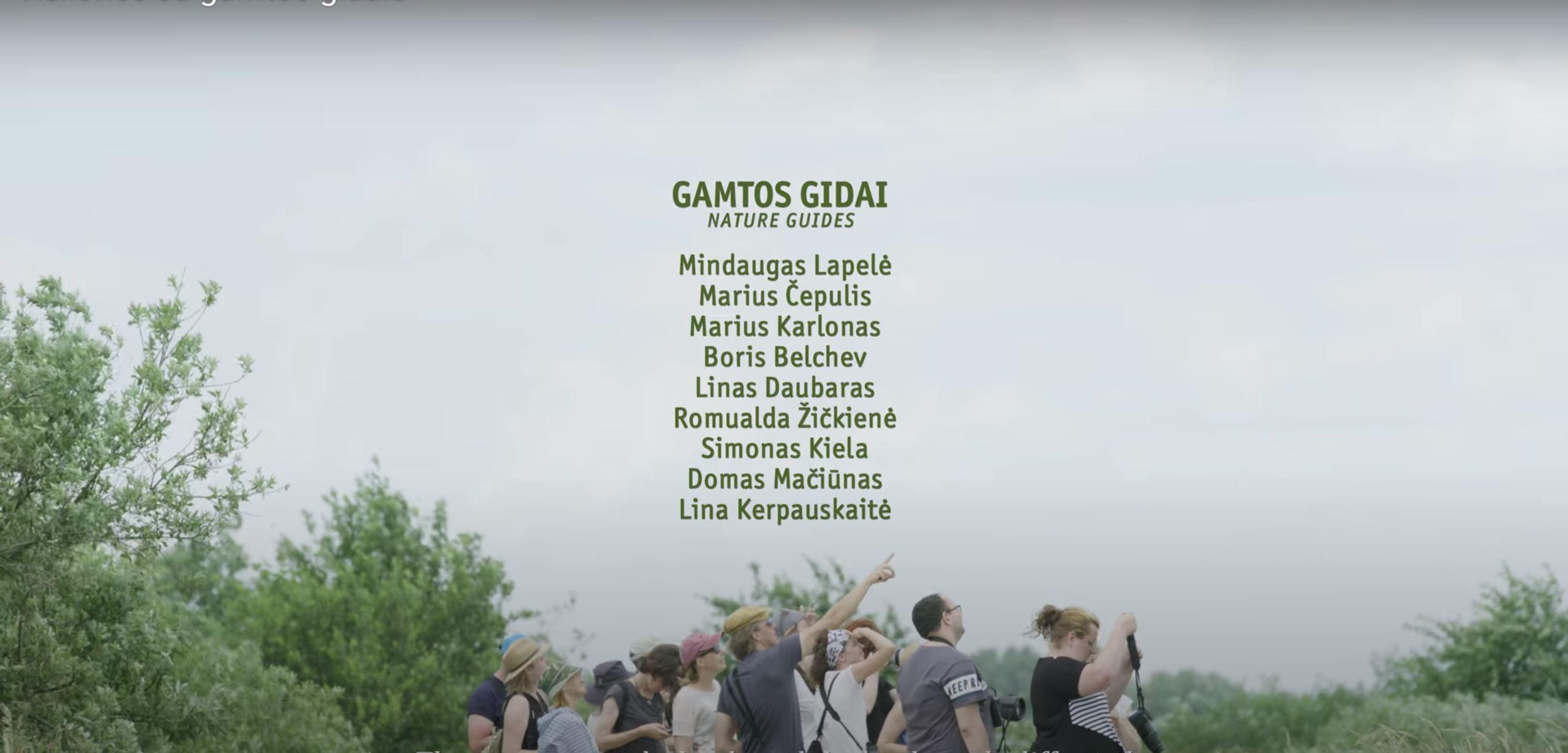Video: šviežutėlis filmas apie gamtos gidus